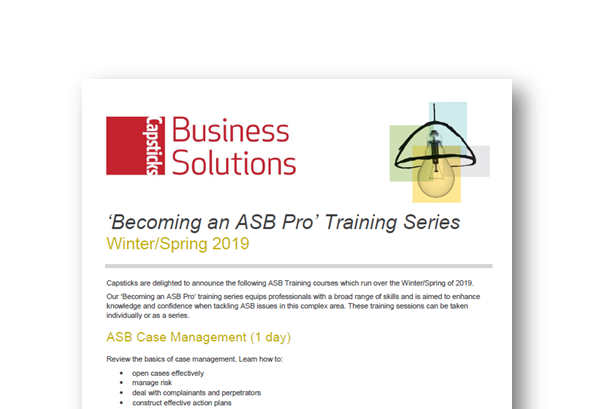 Becoming an ASB Pro' Training Series | Capsticks